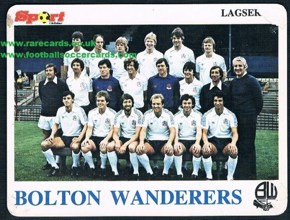 1979 Bolton Wanderers Norway card